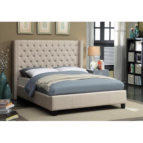 """Ashton Linen Bed - 88"""" W x 86"""" D x 56"""" H"""