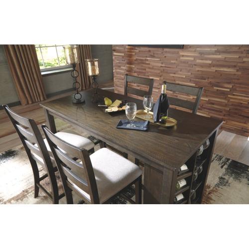 Rokane RECT Counter Table w/Storage Brown