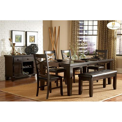 Homelegance - 6PC SET (Table with 4 Side Chairs and 1 Bench)