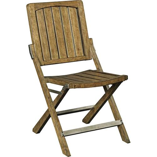 New Vintage Café Wood Slat Chair, Time-Worn Ebony