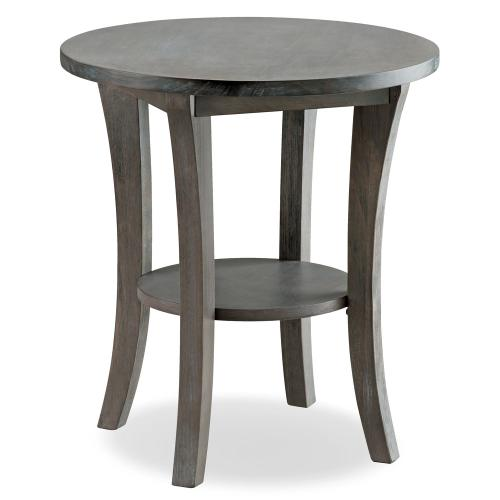 Rustic Wire Brushed Driftwood Round Side Table - Driftwood Collection #10302-RG