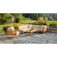 View Product - Bali Outdoor Teak Sectional Set
