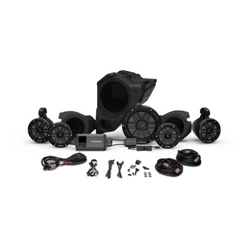 Rockford Fosgate - Ride Command® 2-Way Interface, 800 Watt, Front Color Optix™ Speaker, Subwoofer & Rear Speaker Kit for Select Polaris® RZR® Models (Gen-3)
