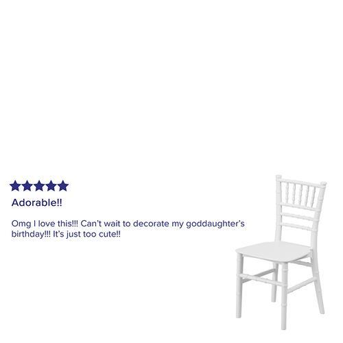 Flash Furniture - Kids White Resin Chiavari Chair