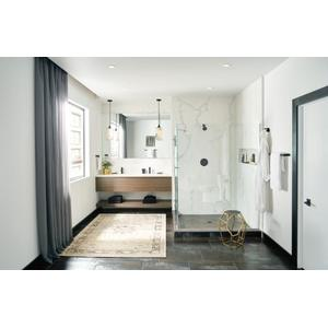Align matte black hand towel bar