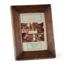 """Walnut ribbed picture frame (5""""x7"""")"""