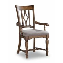 See Details - Plymouth Upholstered Arm Dining Chair