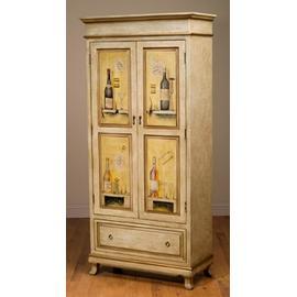 Wine Cabinet 2-door W/wine Btl Dsgn