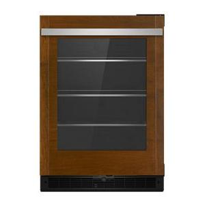 "Jenn-AirPanel-Ready 24"" Under Counter Glass Door Refrigerator, Left Swing"
