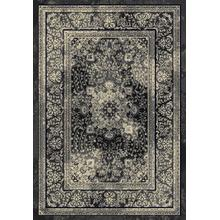 "Durable Flat Weave No Shedding Lifestyle 672 Area Rug by Rug Factory Plus - 5'4"" x 7'5"" / Silver"