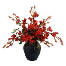Firebrick Orchid Vase