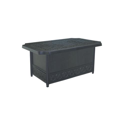 "Castelle - 49"" Biltmore Rectangular Firepit Coffee Table"