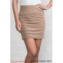 Body Esteem Mini Scrunch Skirt - White/XXL (2 pc. ppk.)