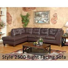 SanMarChocolate 2500RFS - Right Side Facing Sofa