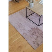 Chinchilla Feel Faux Fur Area Rug by Rug Factory Plus - 5' x 7' / Rose