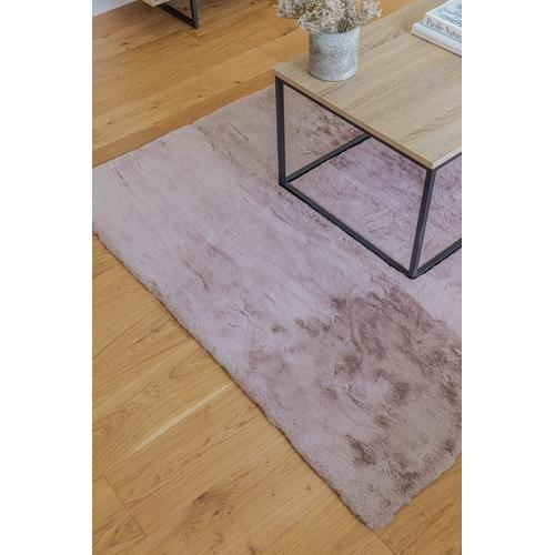"""Chinchilla Feel Faux Fur Area Rug by Rug Factory Plus - 7'6"""" x 10'3"""" / Rose"""