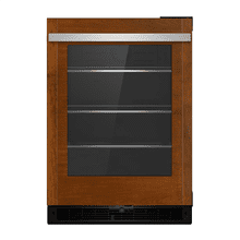 "Panel-Ready 24"" Under Counter Glass Door Refrigerator, Left Swing"