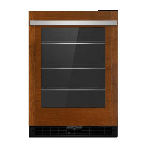 "Panel-Ready 24"" Under Counter Glass Door Refrigerator, Left Swing"