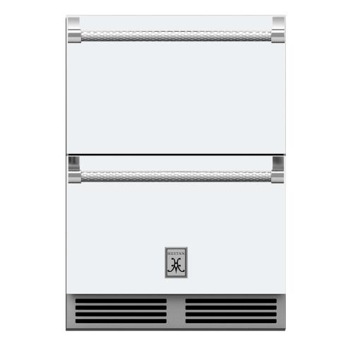 """24"""" Hestan Outdoor Refrigerator Drawers - GRR Series - Froth"""