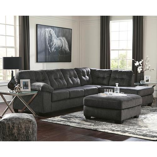 Signature Design by Ashley Accrington 2-Piece Left Side Facing Sofa Sectional in Granite Microfiber [FSD-1339SEC-2LAFS-GRT-GG]