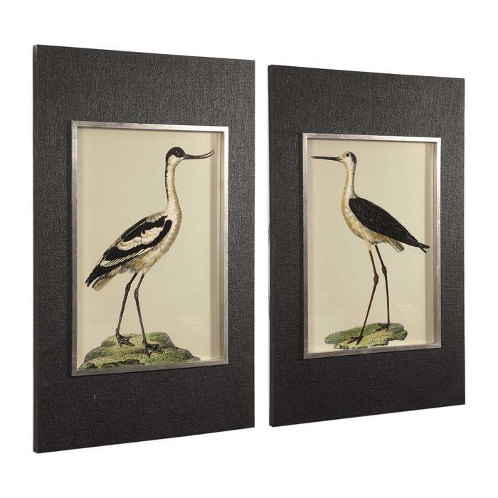 Uttermost - Birds On The Shore Framed Prints, S/2