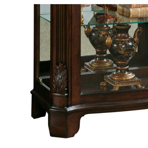 Pulaski Furniture - Distinguished Carved 3 Shelf Curio Cabinet in Cherry Brown