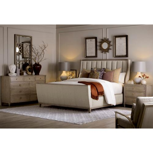 A.R.T. Furniture - Cityscapes King Chelsea Upholstered Shelter Sleigh Bed