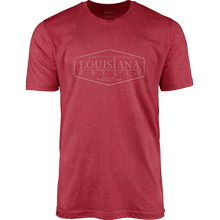 See Details - Louisiana Grills Men's Red Heather Picture Logo T-Shirt