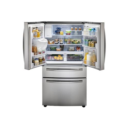 23 cu. ft. Counter Depth 4-Door French Door Refrigerator with FlexZone™ Drawer in Stainless Steel