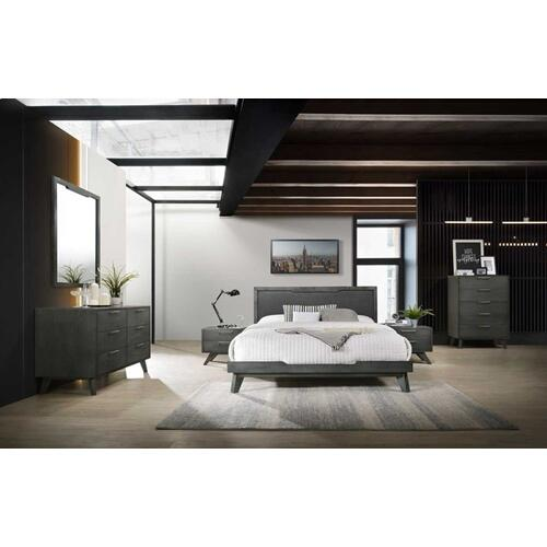 Nova Domus Soria Modern Grey Wash Bedroom Set