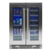 "24"" French Door Beverage Centers Wine Refrigerators"
