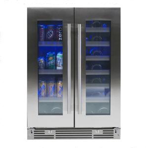 Xo Appliances 24 In Beverage/wine Double Door Ss Glass