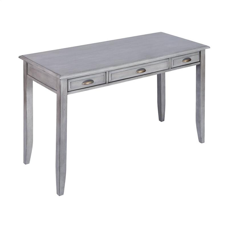 Beatrix 3-drawer Desk In Grey