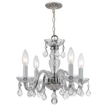 See Details - Traditional Crystal 4 Light Clear Swarovski Strass Crystal Chrome Mini Chandelier