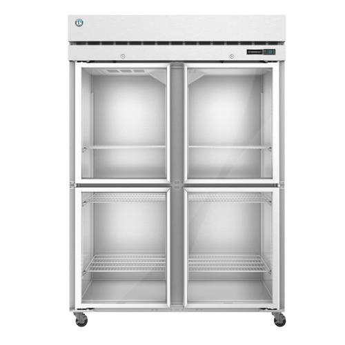 Hoshizaki - R2A-HG, Refrigerator, Two Section Upright, Half Glass Doors with Lock
