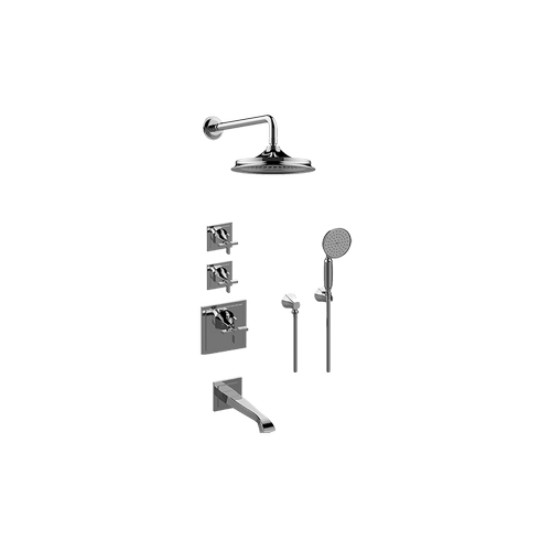 FINEZZA UNO M-Series Thermostatic Shower System - Tub and Shower with Handshower