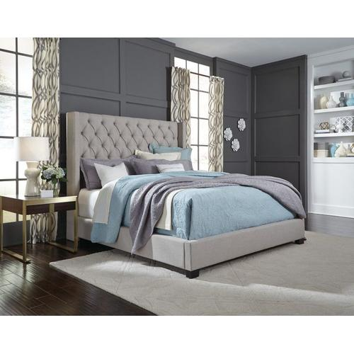 Westerly Queen Bed, Light Grey