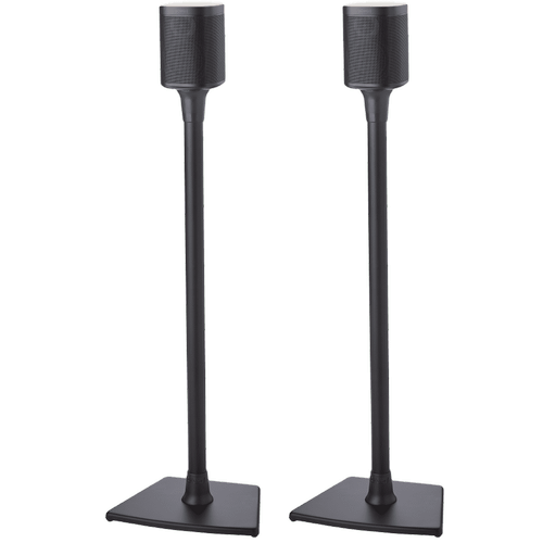 Black- Pair of secure floor stands for Sonos surrounds.