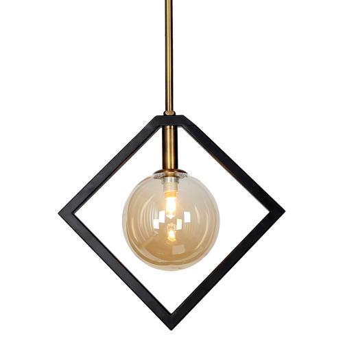 1lt Halogen Pendant Mb & Vb W/ Champagne Glass