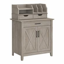 View Product - Secretary Desk with Storage and Desktop Organizers, Washed Gray