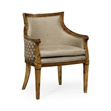Belton Grey Fruitwood Armchair