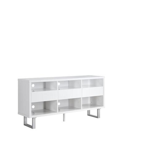 Gallery - Contemporary Glossy White TV Console