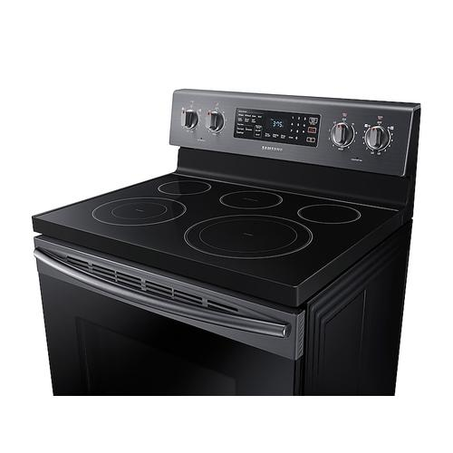 5.9 cu. ft. Freestanding Electric Range with Convection in Black Stainless Steel
