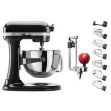 Exclusive Bowl-Lift Stand Mixer & Spiralizer Attachment Set - Onyx Black