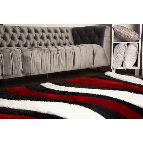 Sorrento 725 Shag Area Rug by Rug Factory Plus - 2' x 3' / Red