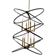 8lt Incandescant Chandelier, Vb & Mb Finish