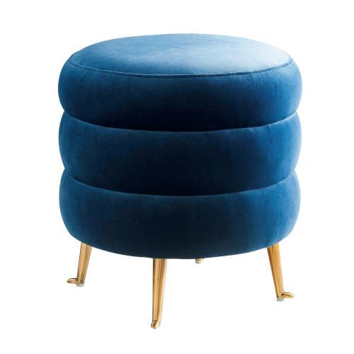 Tov Furniture - Ladder Blue Velvet Ottoman