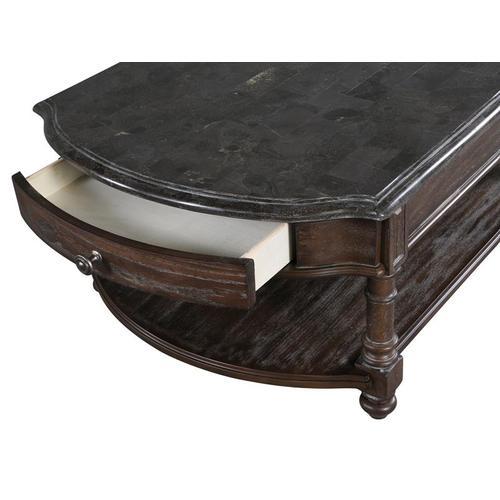 Magnussen Home - Rectangular Cocktail Table (w/bluestone veneer top)