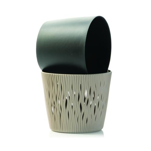 Sandy Round Planter- Mocha MD (min.5pcs)