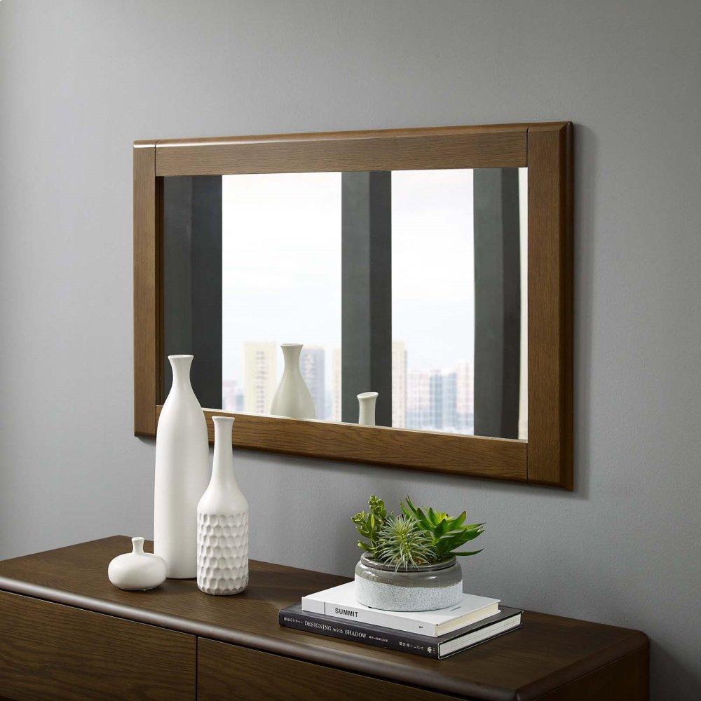 Talwyn Wood Frame Mirror in Chestnut